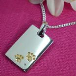 Pawprints Pet Memorial Pendant Personalised ref. PPDT